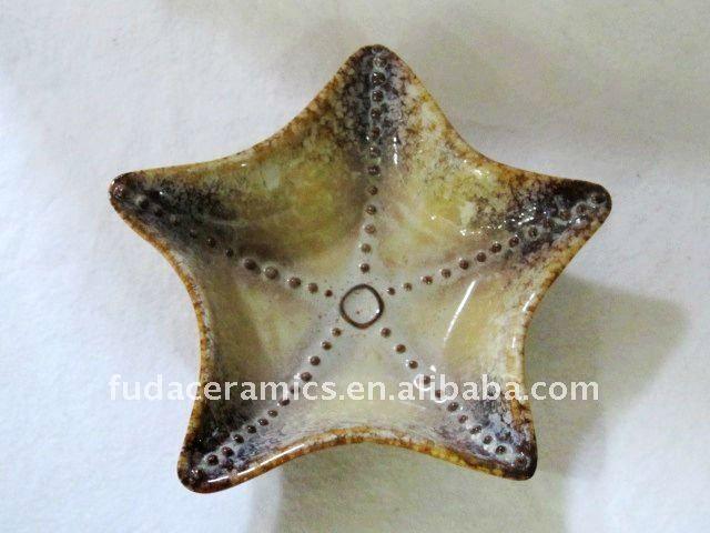 Decorative Ceramic Starfish Plate Ceramic Decor Decorated Shoes Ceramics