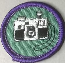 1980-1991 Girl Scout WTE World to Explore Badge COMMUNICATION ARTS (Camera)