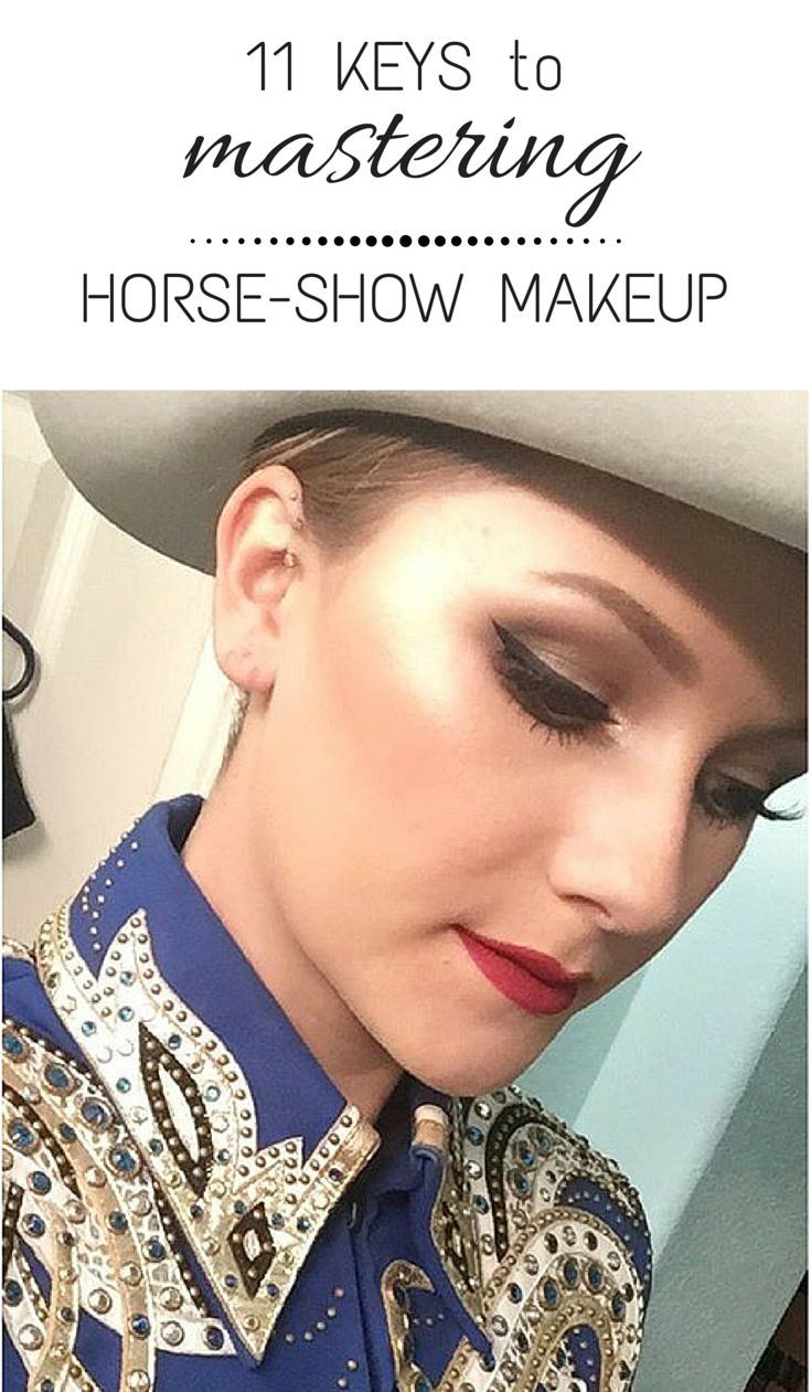 Janet on horse tutorials and makeup how to horse show makeup tips and tutorials baditri Gallery