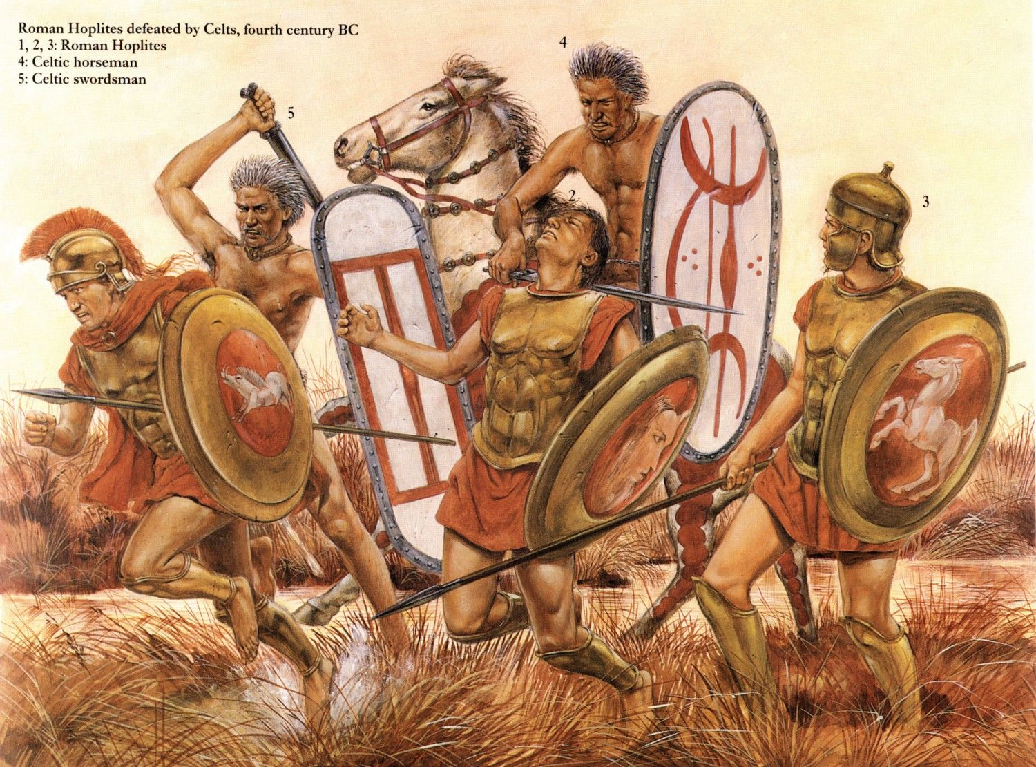 Roman Hoplites defeated by Celts, fourth century BC   Romaner