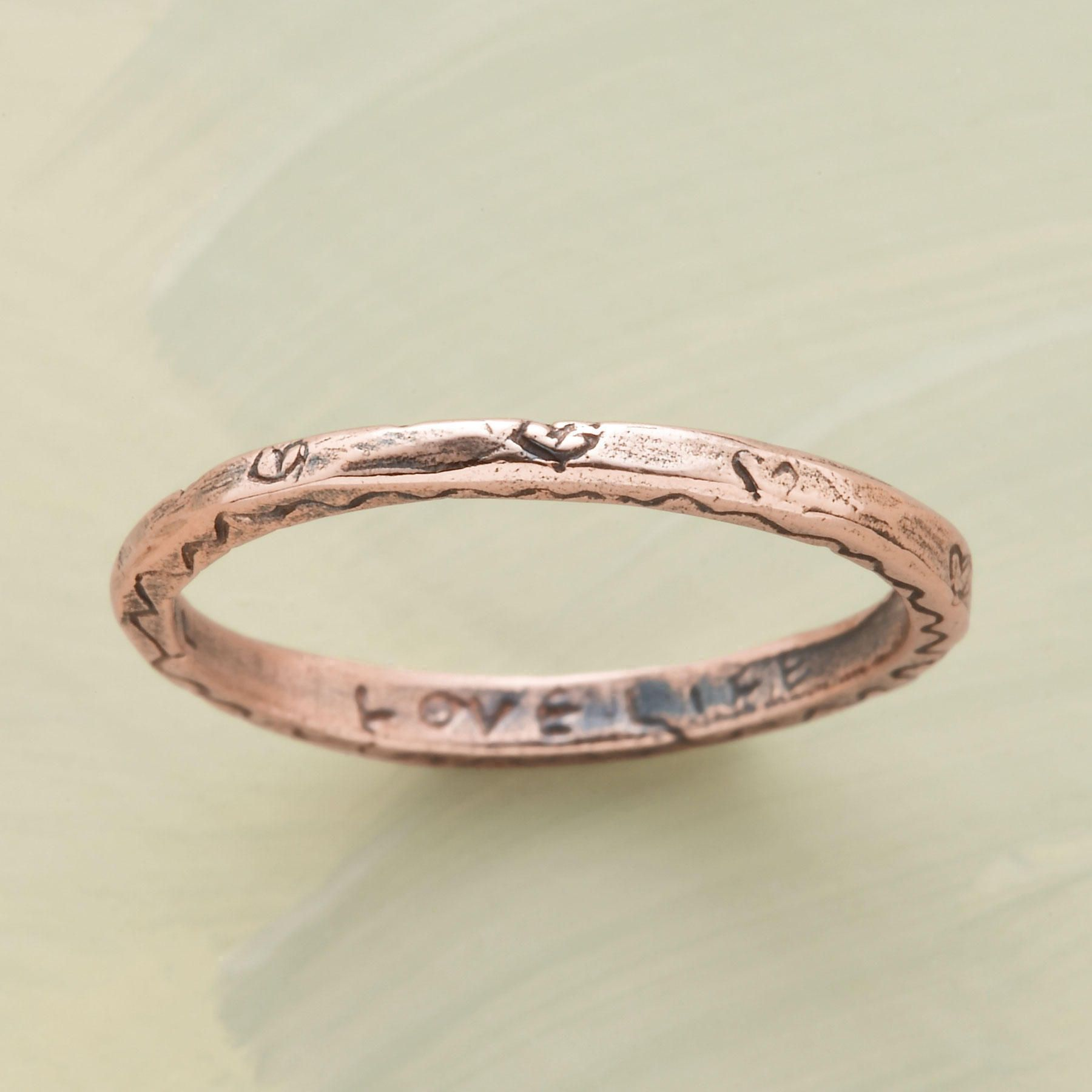 ROSE GOLD VITALITY RING Encircled with hearts our exclusive