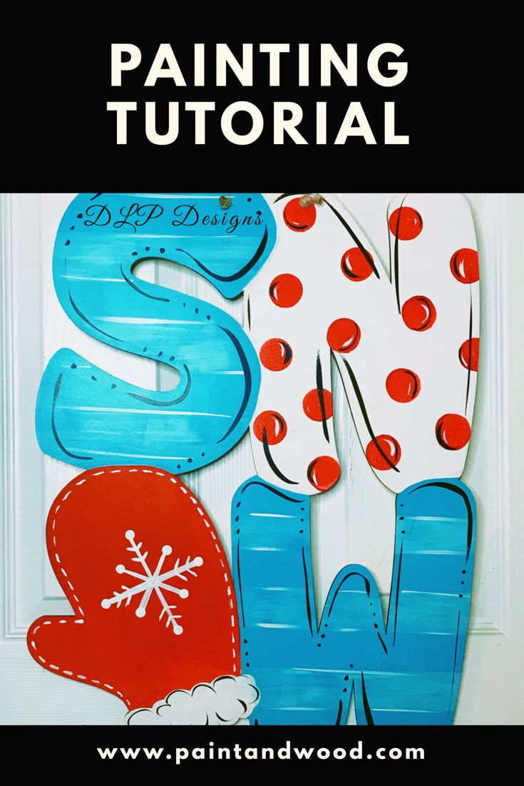 Winter Mitten Snow Door Hanger Unfinished Paint Art