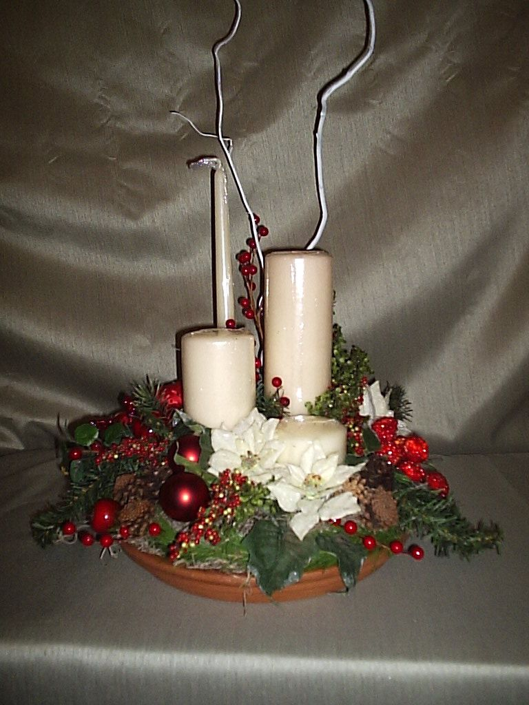 candle centerpieces for all holidays | gorgeous 4 candle christmas