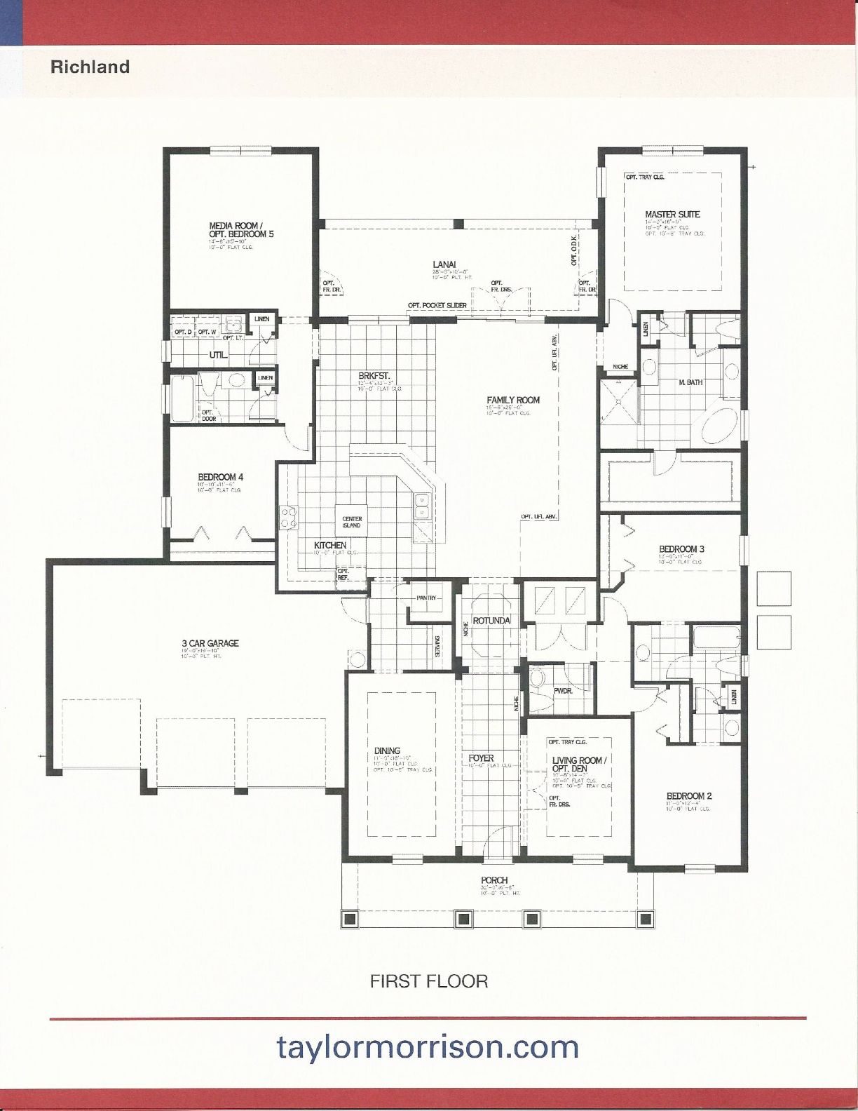 taylor morrison homes in independence richard floor plan in winter