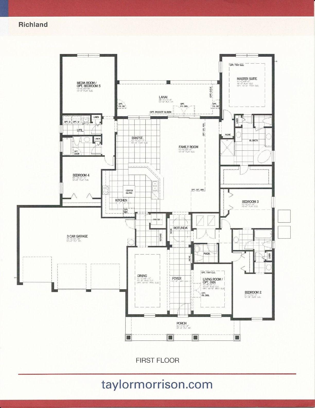 Taylor Morrison Homes In Independence Richard Floor Plan In Winter Garden Fl Garden Design Plans Winter Garden Garden Design