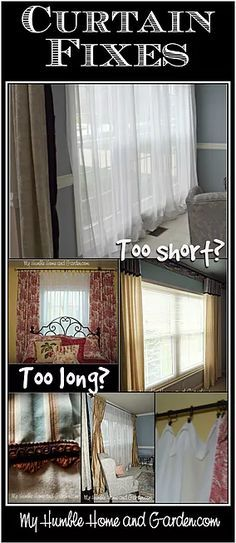 Curtain Diy Ideas To Fix Problems Are You In Despair Curtains Too Short Easy Little Fi Can Be Found Right Here Knowing That Having Your Cur