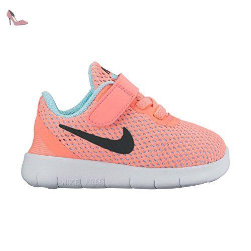 SCARPE BAMBINO NIKE FREE RN (TDV) 834042 (26 - 601 LAVA GLOW-METALLIC  SILVER) - Chaussures nike (*Partner-Link)