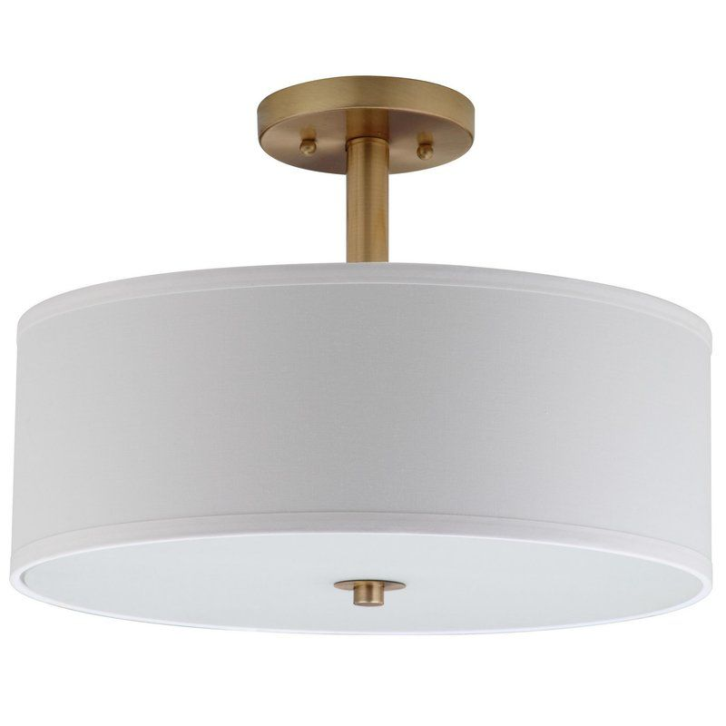Jaida 3 Light 16 Drum Semi Flush Mount Flush Lighting Flush