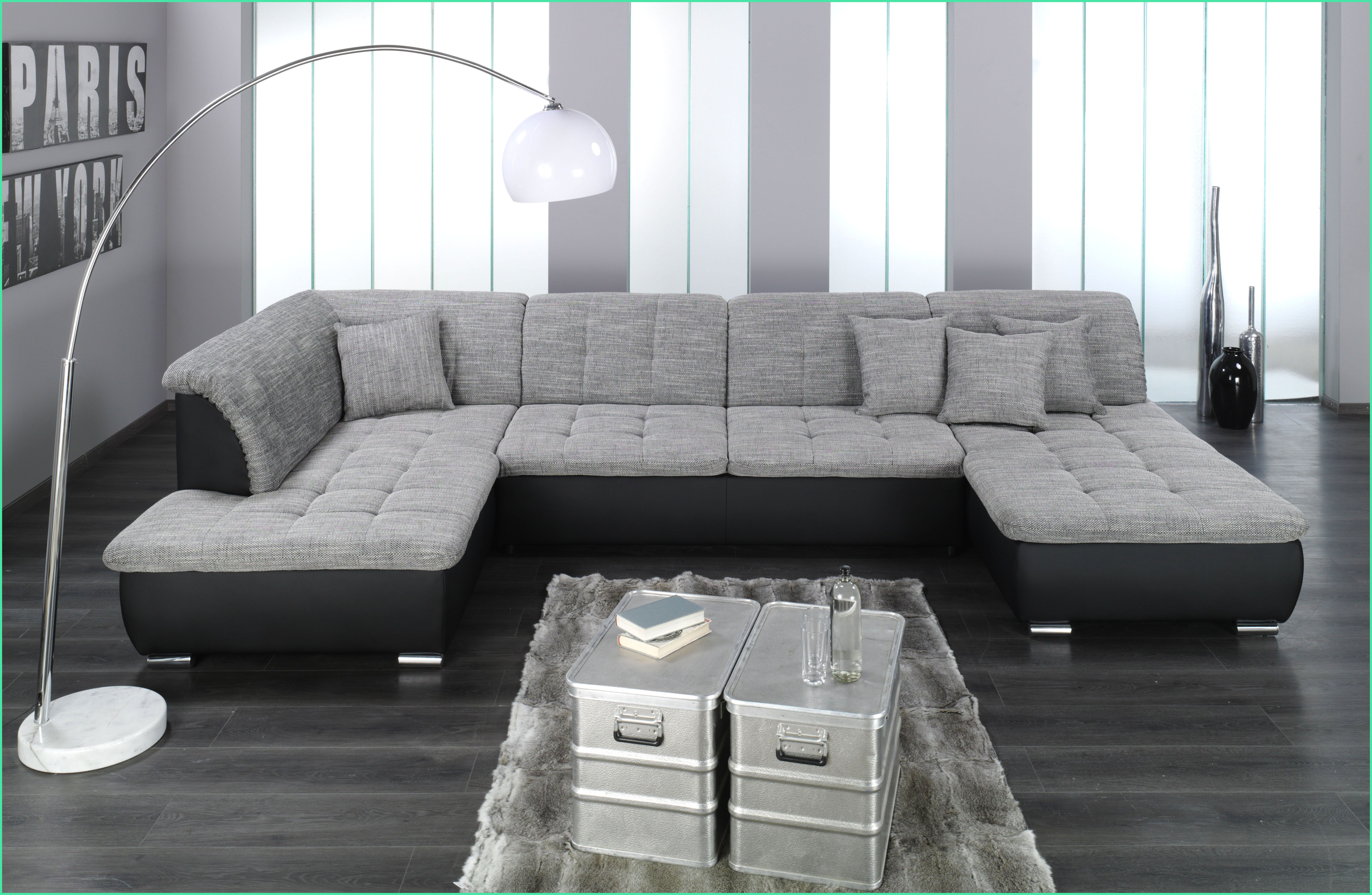 16 Anstandig Wohnlandschaft U Form Xxl Grey Sectional Sofa Sectional Sofa With Chaise Modern Couch