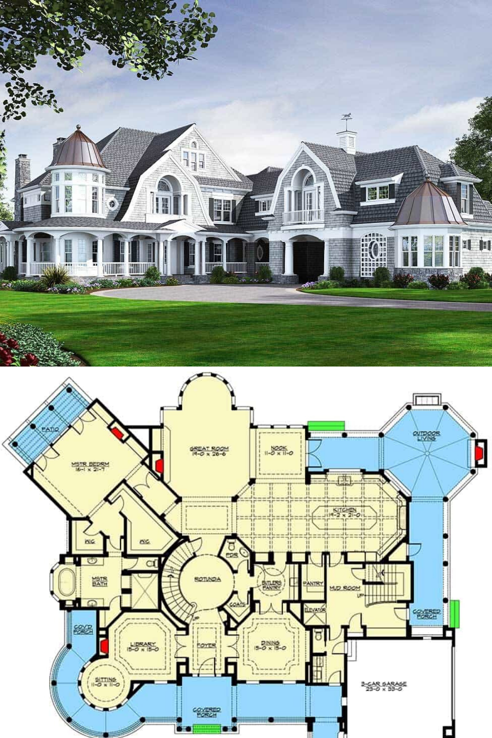Two Story 5 Bedroom Newport Home Floor Plan In 2021 Mansion Floor Plan House Plans Mansion Farmhouse Floor Plans