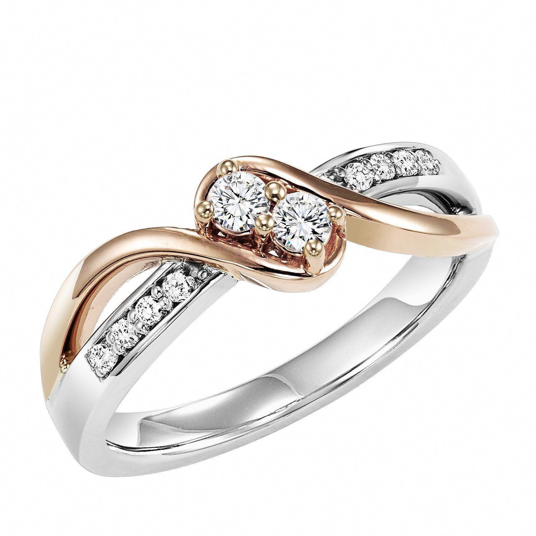 14K Rose Gold Diamond Anniversary Band Eternity Diamond