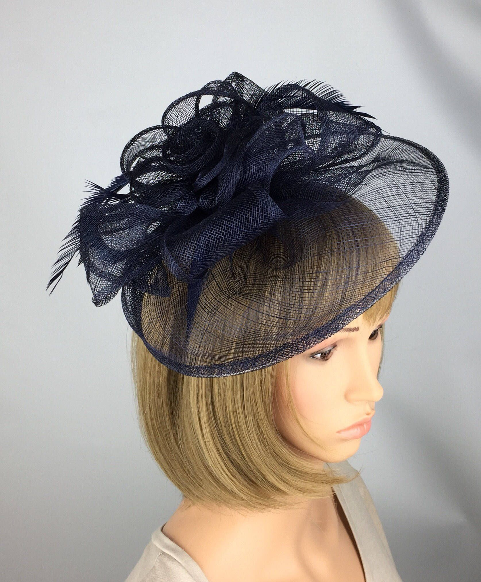 Excited to share the latest addition to my  etsy shop  Dark Navy Blue  Fascinator fd2e232be01