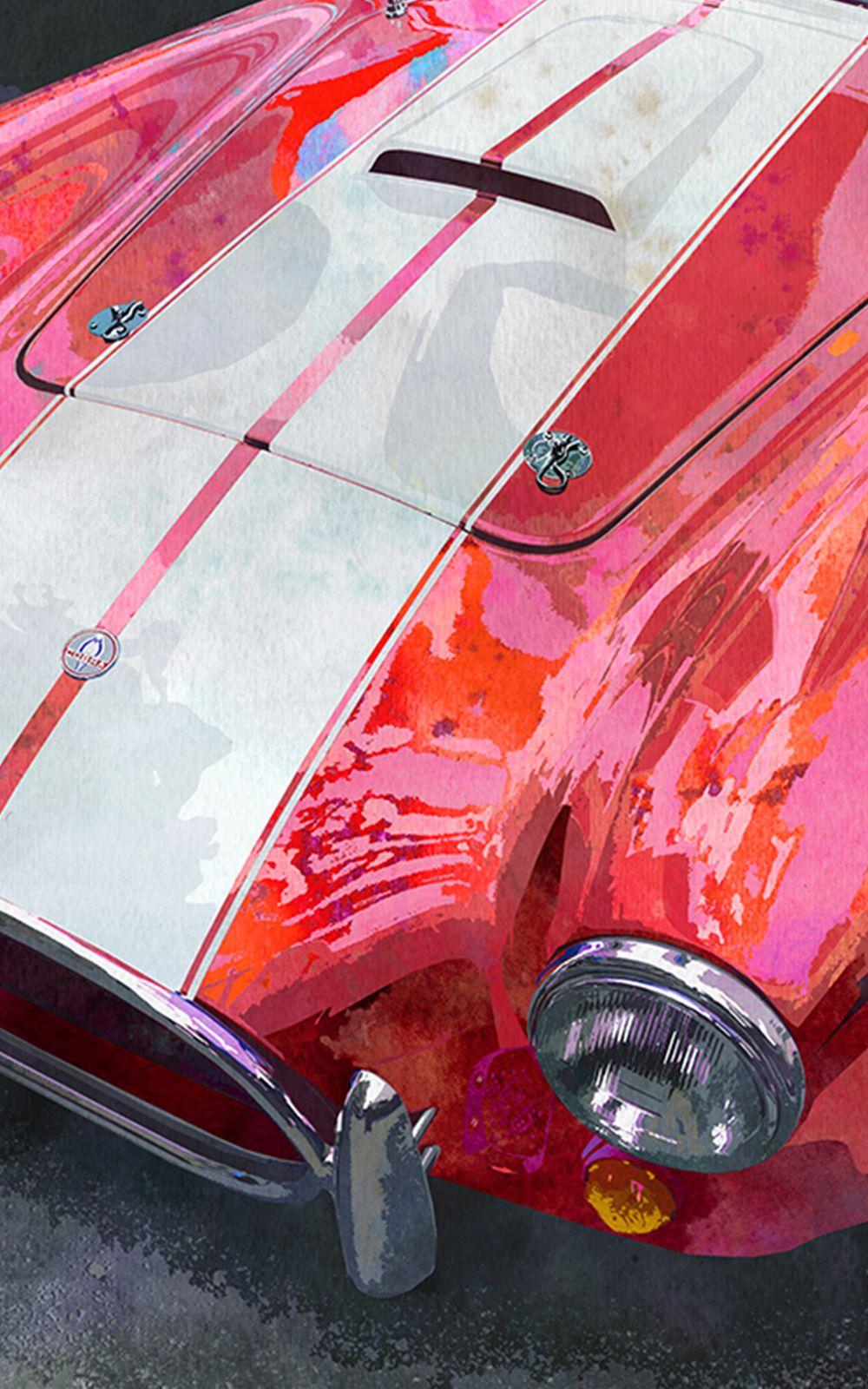Yellow Andrea Helm Car Art Car Art  Retro 1981 Pontiac Firebird TransAm