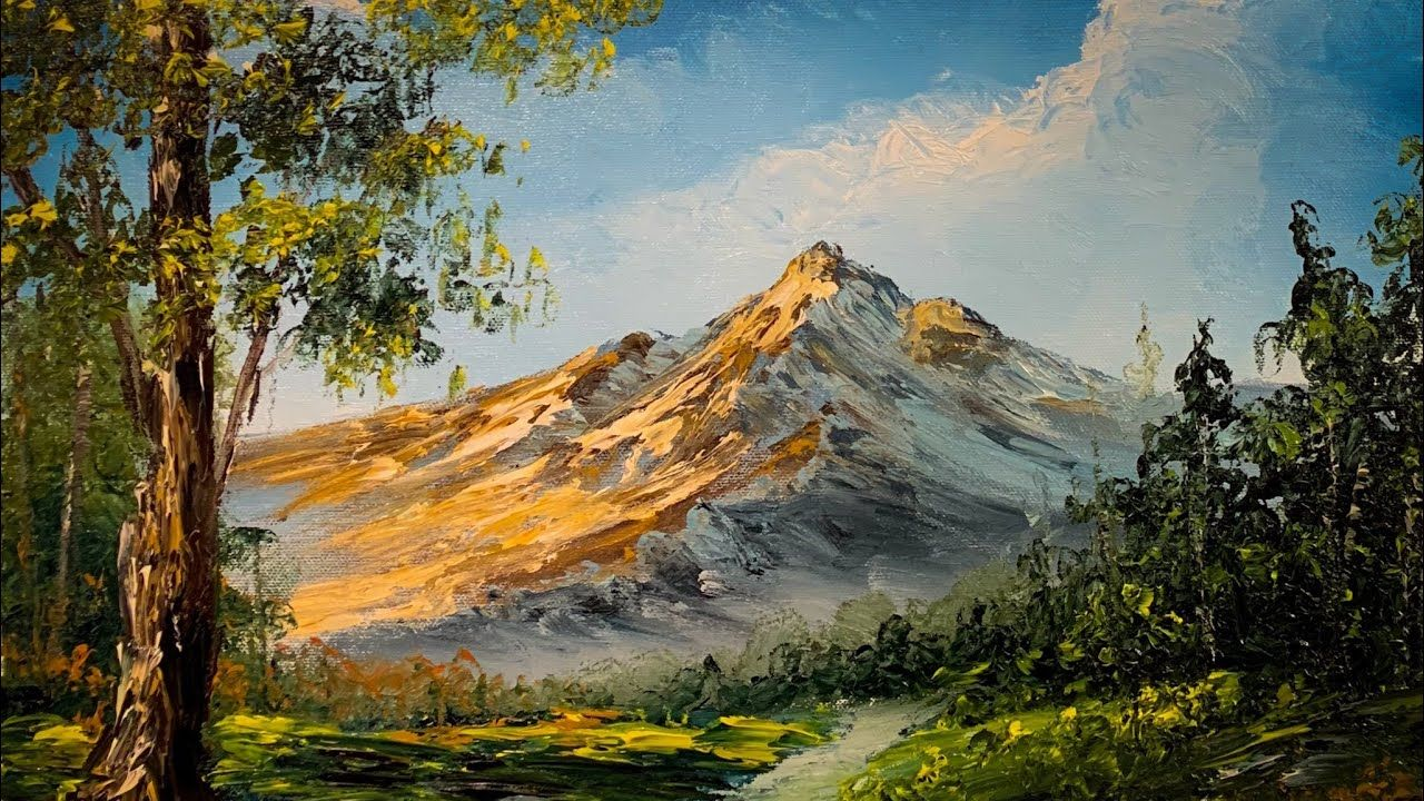 How To Paint With Your Hands Landscape Oil Painting Paintings By Justin Paisajes Al Oleo Pinturas Arte