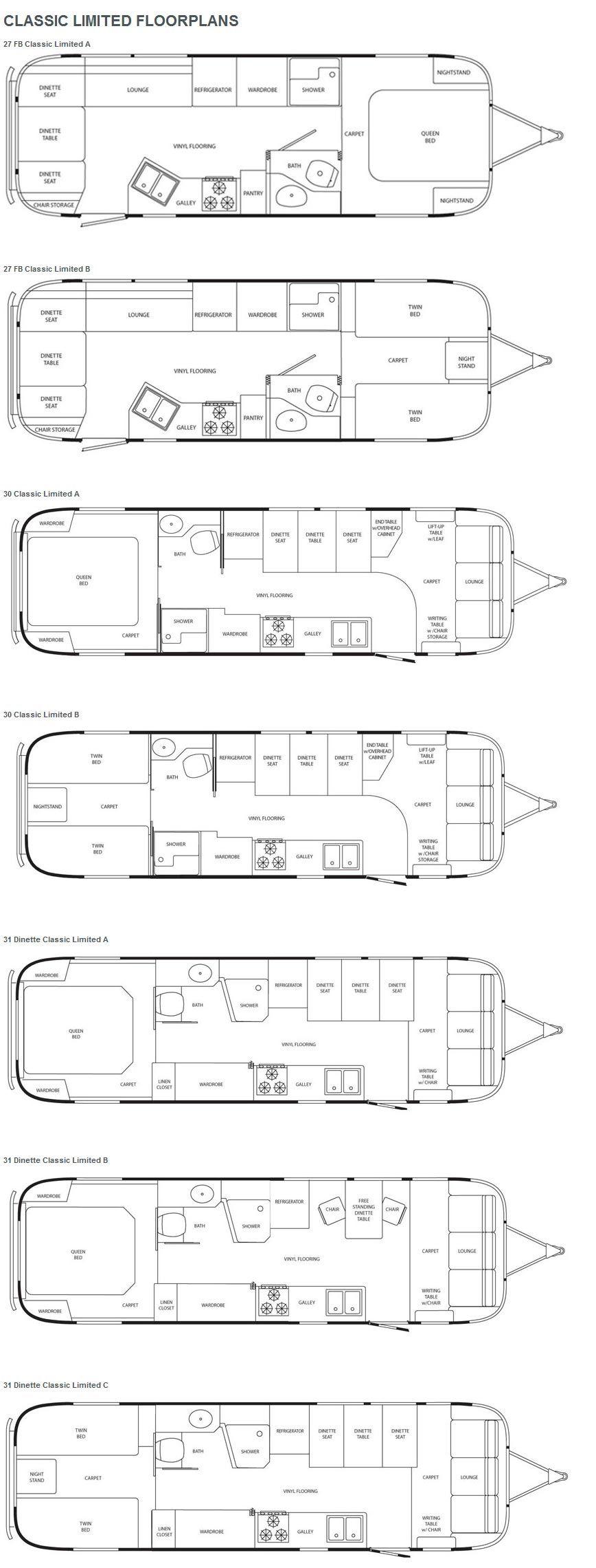 Travel Trailer Floorplans