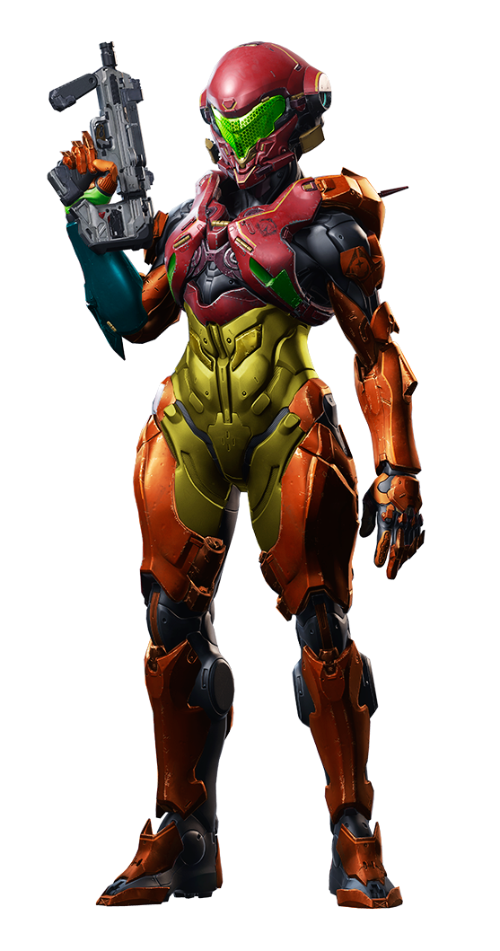 Vale repainted with Samus Aran's colorset [By /u/Vorked] #Metroid #HaloODST
