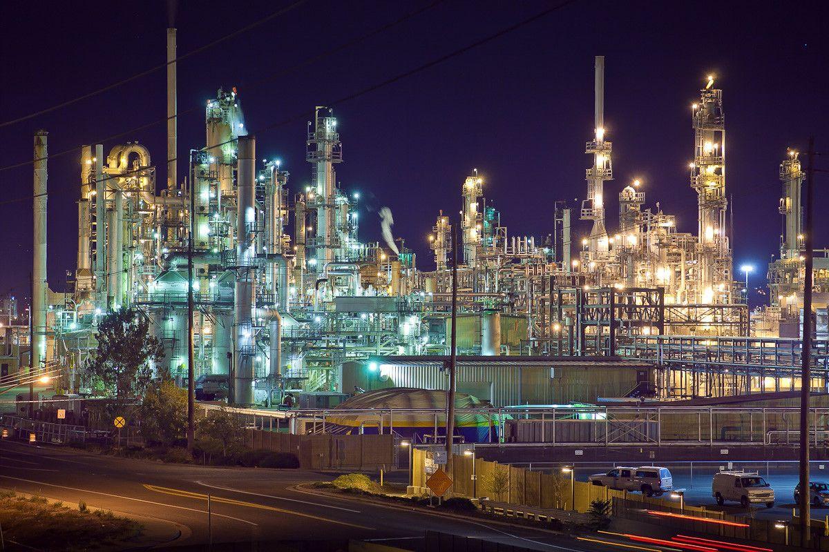 Oil Refinery At Night Near Denver Photog Pinterest
