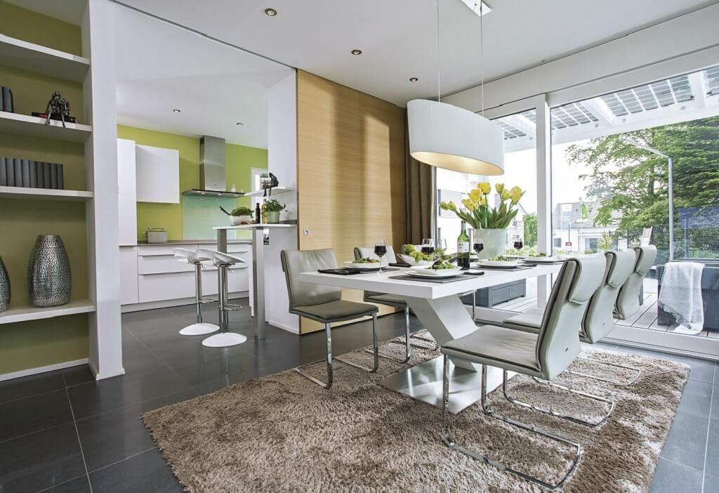 Essplatz modern City Life - Haus 250_WeberHaus - Esstisch mit - Küche Einrichten Ideen
