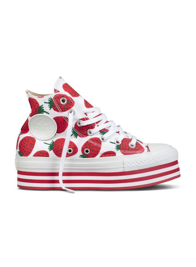 9eb74bd3ce02 Strawberry converse platform trainers by Marimekko. Anyone  Facebook ...