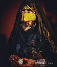Arabian Gulf Veiled Woman البرقع الخليجي البطولة Arab Beauty Islamic Cartoon Portrait