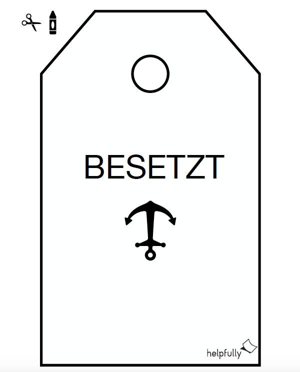 Wc Schild Besetzt Vorlage Anker Toilettenschilder