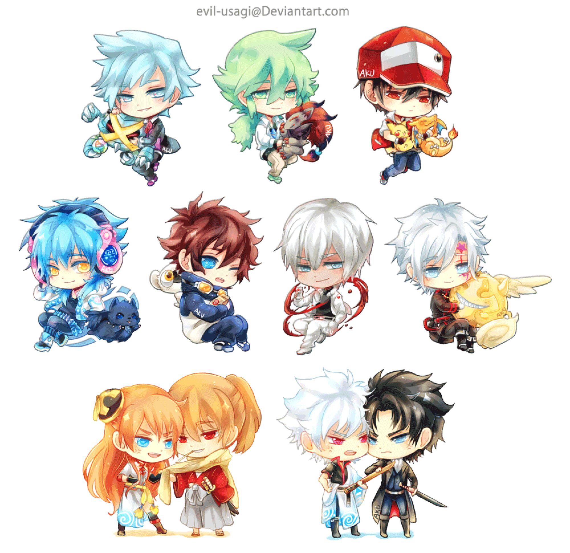 Chibi acrylic charms anime chibi chibi chibi characters