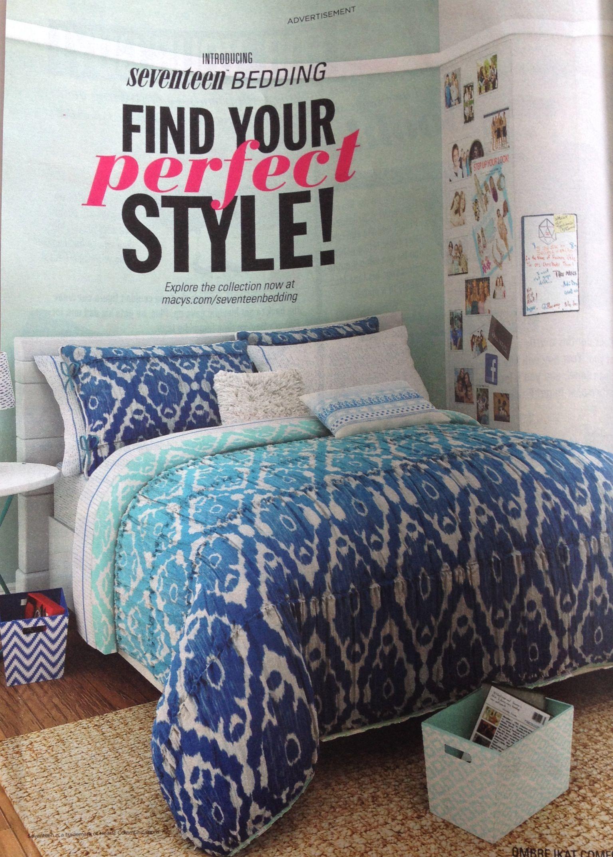 Seventeen Bedding Bed Bedroom Inspirations Cool Rooms