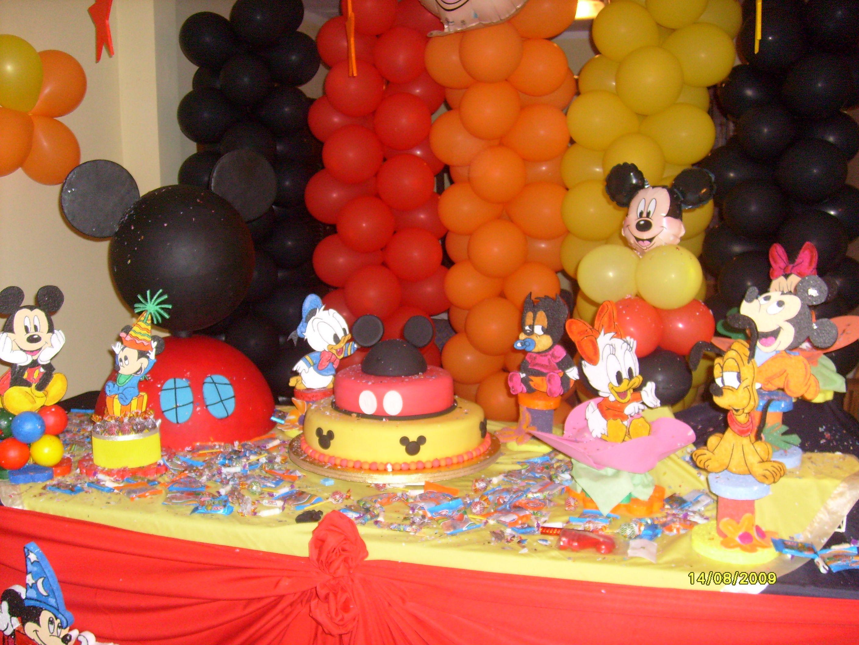 decoración fiesta mickey mouse - Buscar con Google | Mikey ...