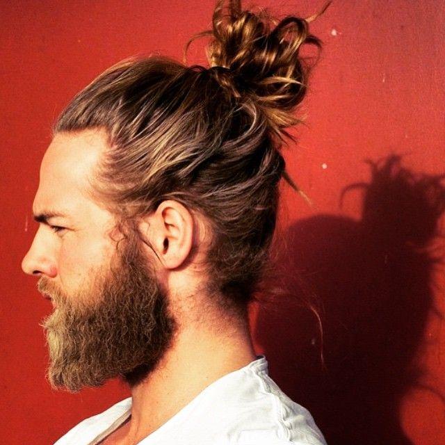 Hotdudeswithbeardsandbuns On Instagram This Is Simply A Masterpiece Manbun Manbeard Bearded Top Knot Hairstyles Long Hair Styles Men Man Bun Hairstyles