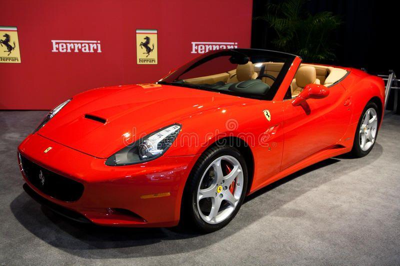 Red Ferrari California At The Toronto Auto Show Red Ferrari