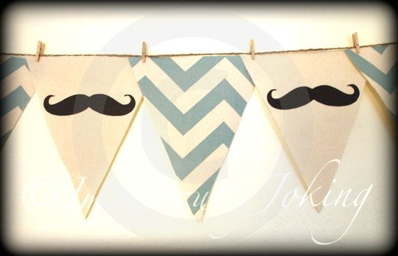 Mustache Banner Little Man Party-Baby Shower by ImSeriouslyJoking