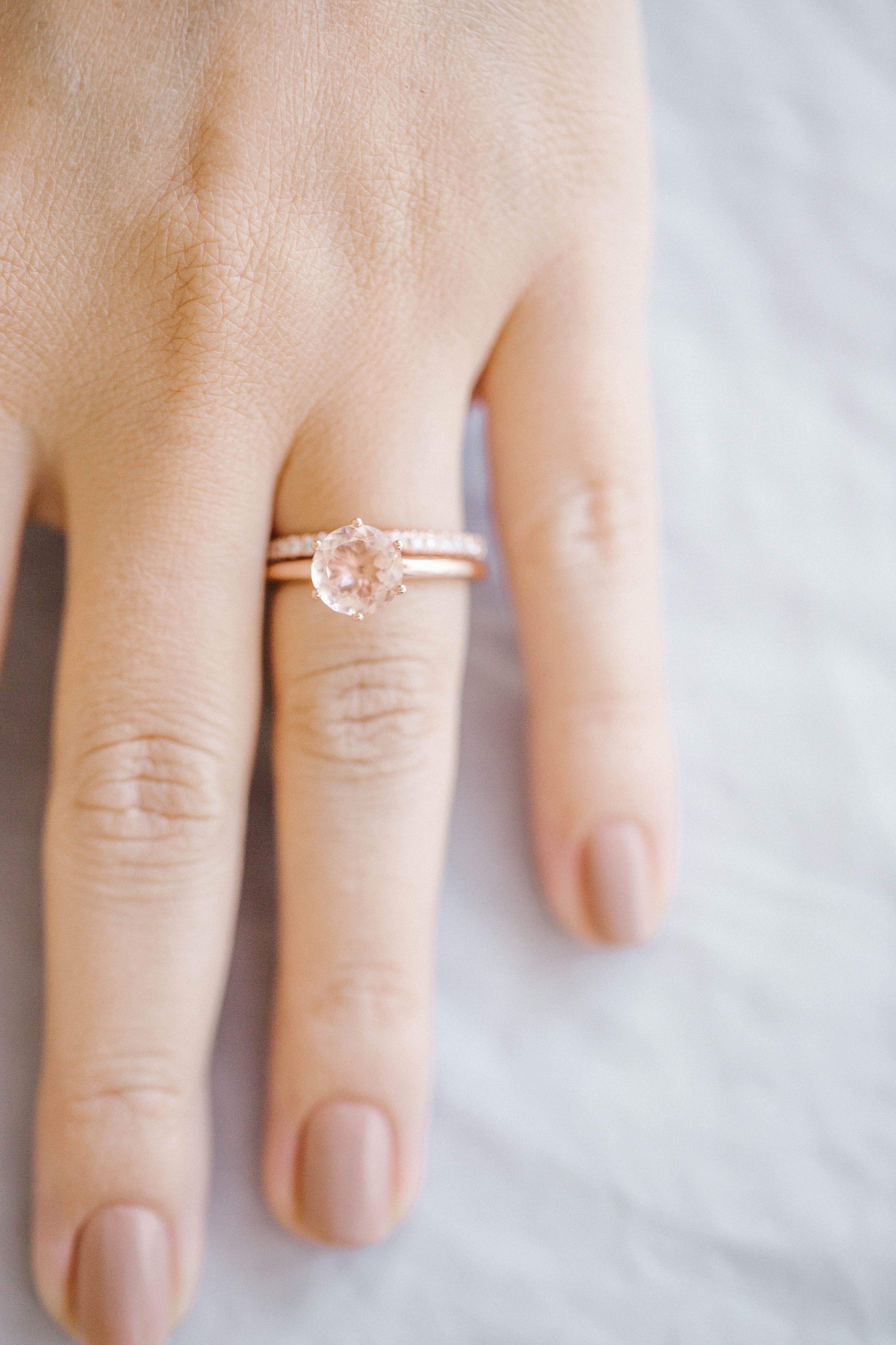 Lc Lauren Conrad 10k Rose Gold Morganite Ring Rose Gold Morganite Ring Peach Morganite Engagement Ring Minimalist Engagement Ring Rose Gold