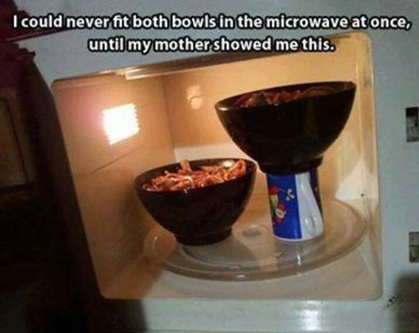Heating 2 Bowls in Microwave