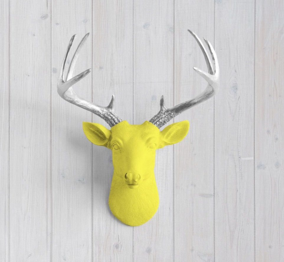 Charming Deer Head Wall Decoration Images - The Wall Art ...