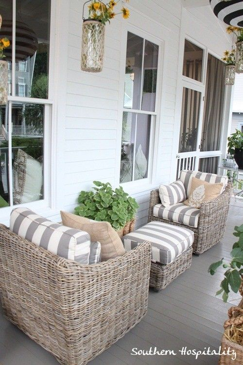 Ballard House Front Porch Love Love These Chairs But In A
