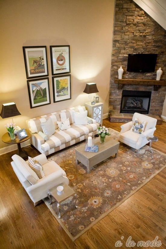 Living Room Furniture Arrangement Corner Fireplace Home Interior