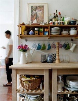 Space Savingkrystal357  Depto  Pinterest  Spaces Space Captivating Decorative Kitchen Shelves Design Decoration