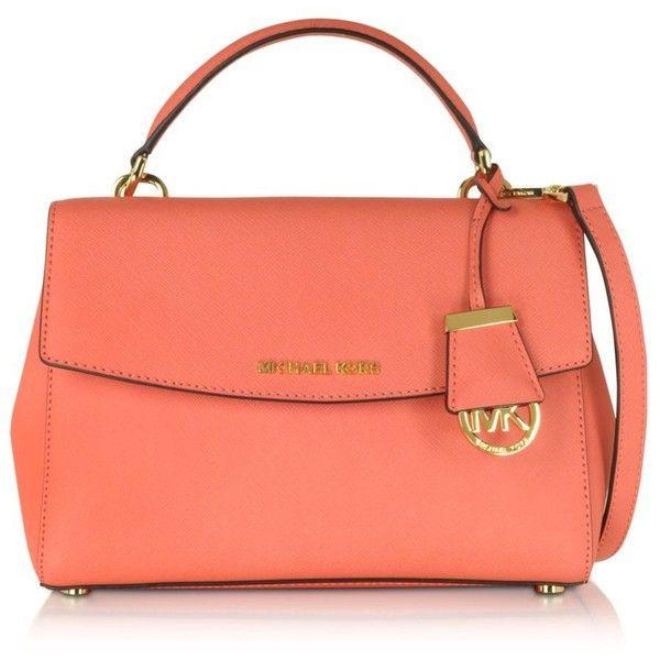 Michael Kors Handbags Ava Small Saffiano Leather Crossbody