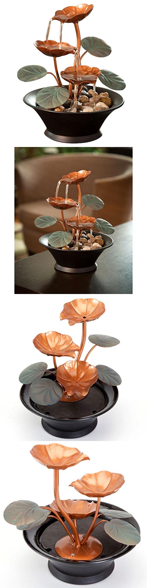 Indoor fountains 20569 water fountain indoor water lily smallsize indoor fountain workwithnaturefo