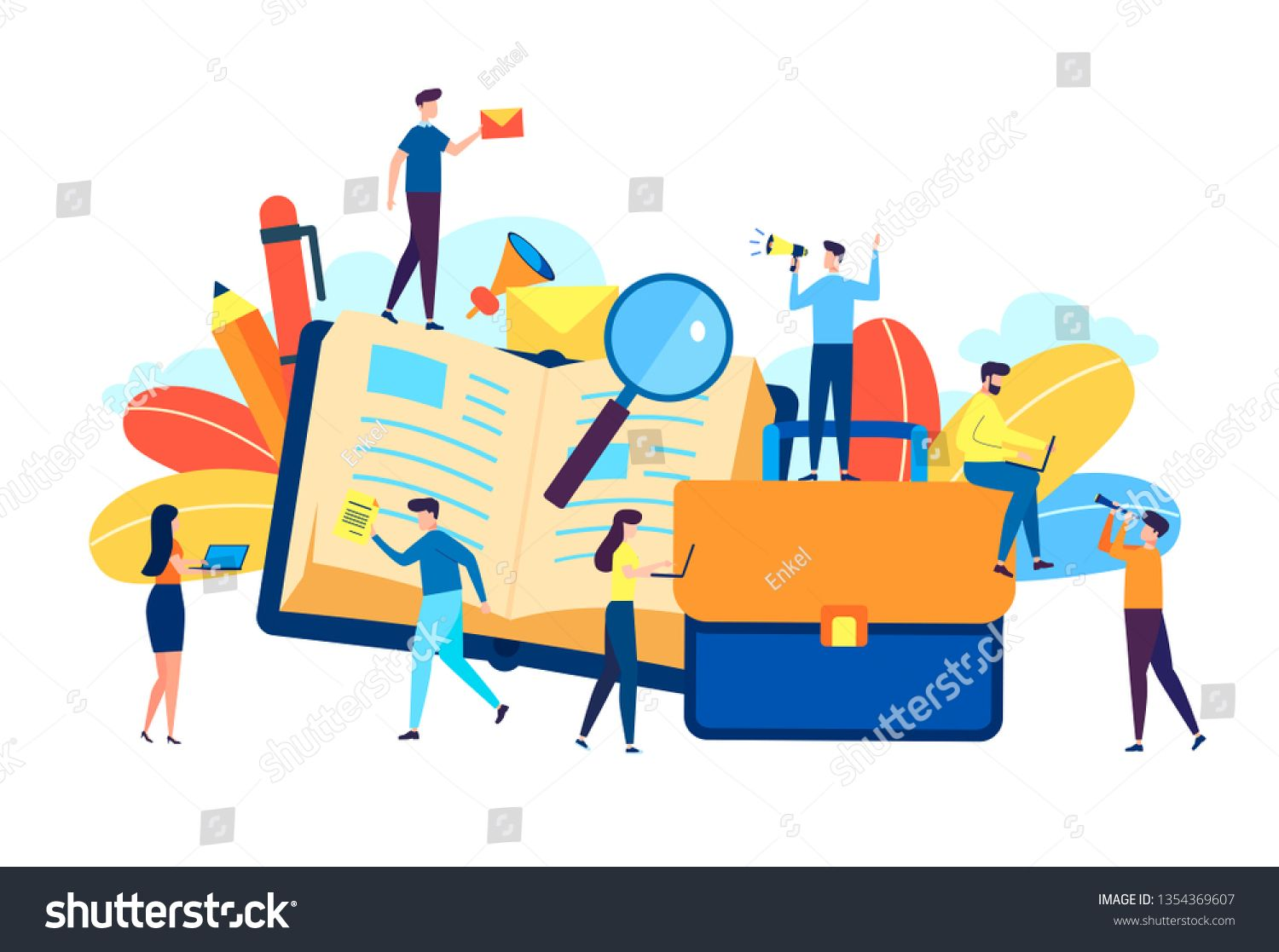 Online Training Courses Vector Illustration Distance Learning