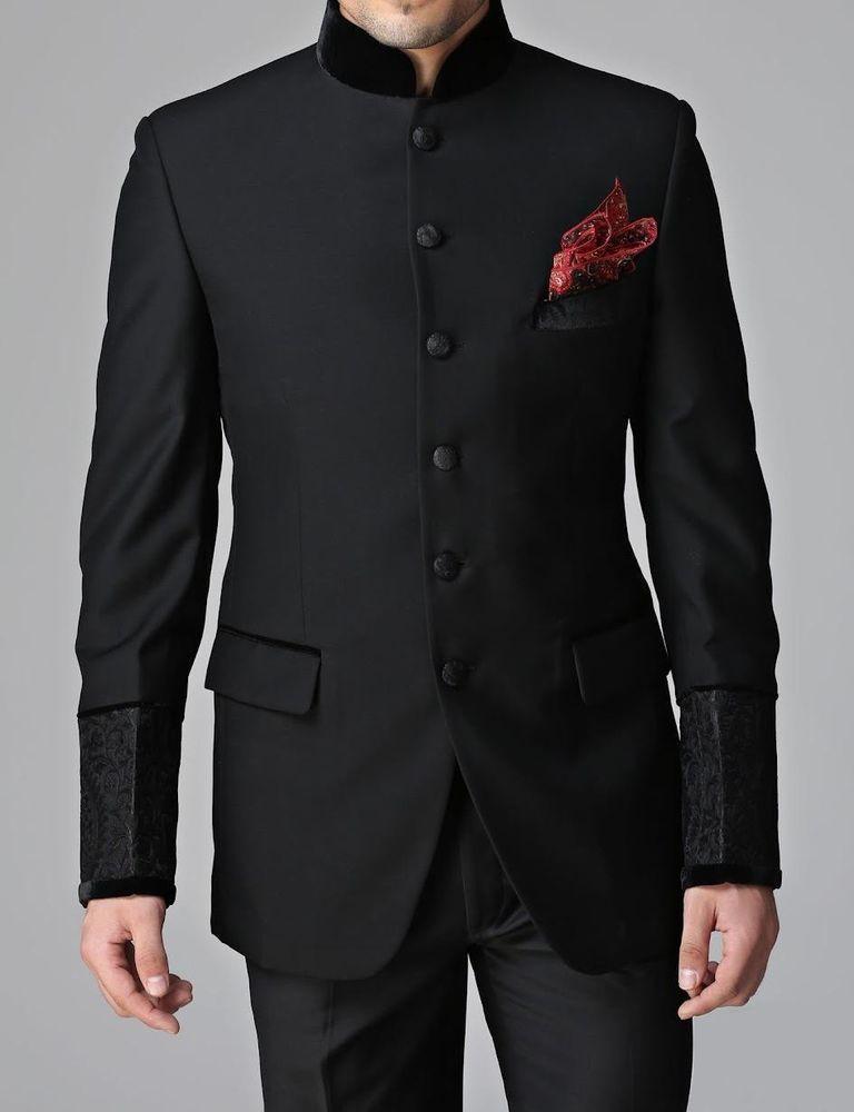 17489cb0b7 Men New Stylish Party Wear Groom Designer Jodhpuri Wedding Tuxedo Suit Coat  Pant in Clothing