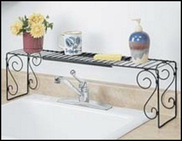 Kitchen Wrought Iron Over The Sink Shelf Design