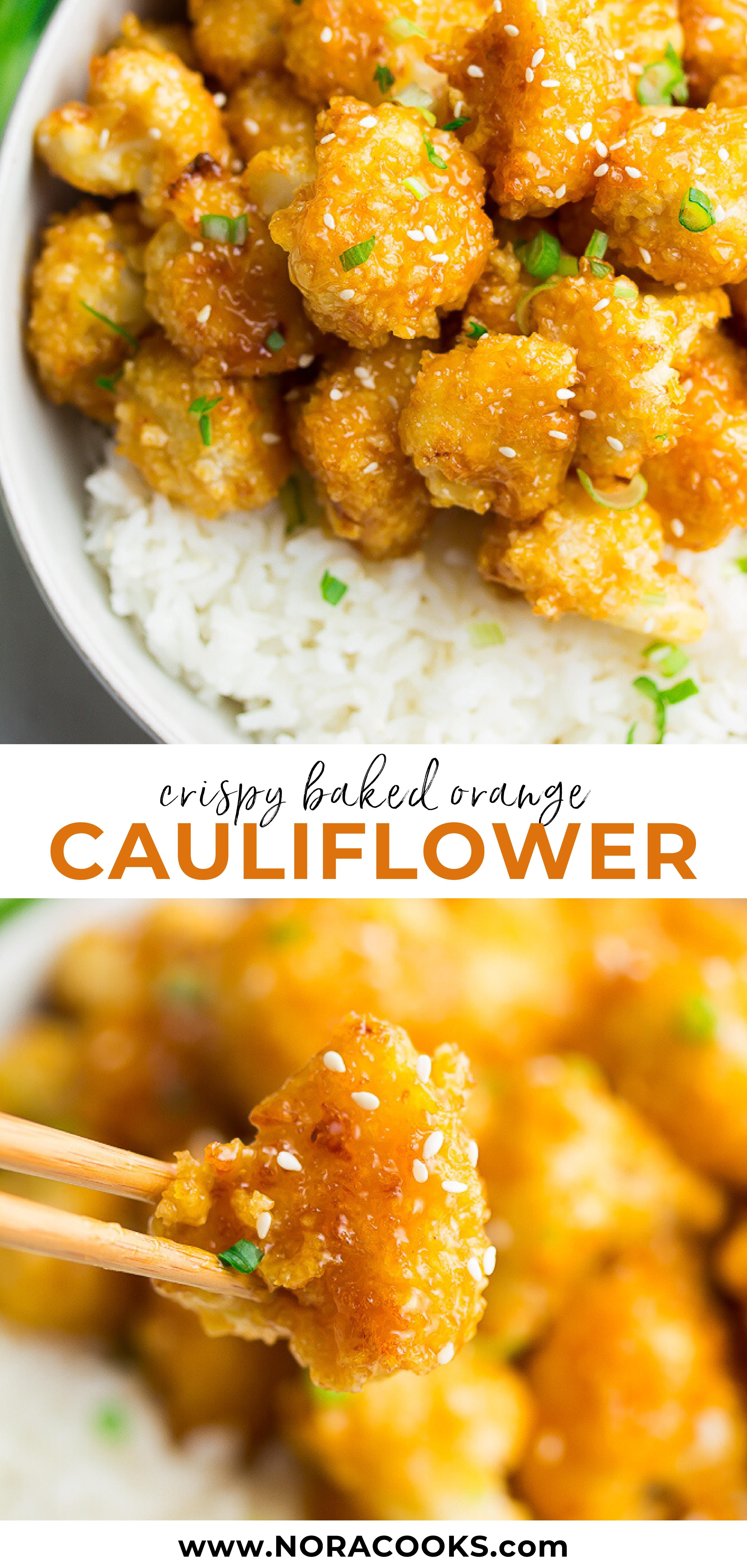 Orange Cauliflower #pescatarianrecipes