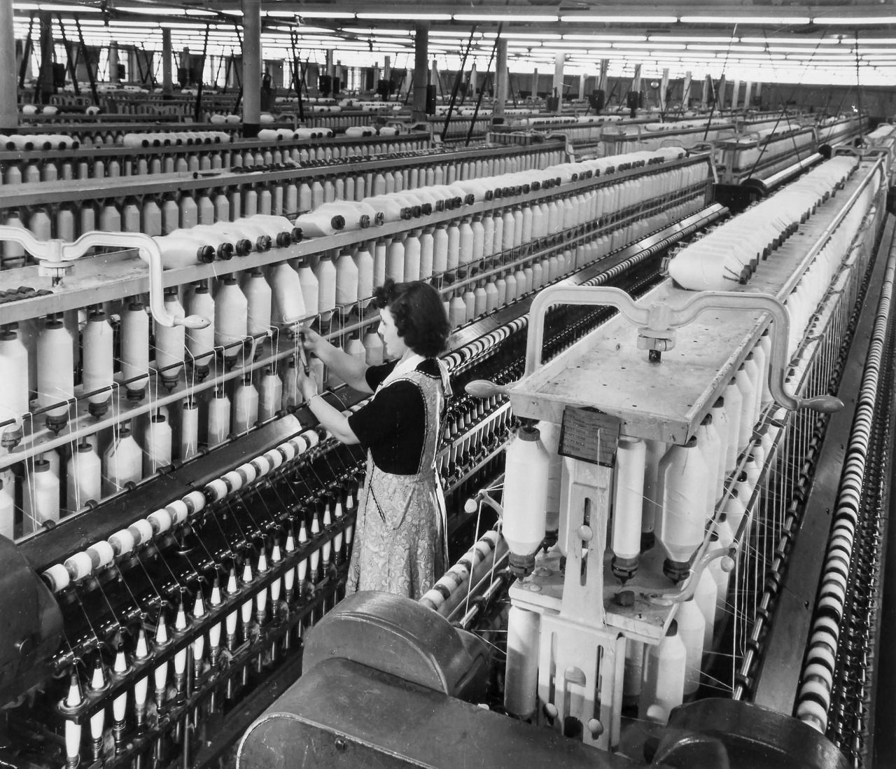 Andre Kertesz Textile Factory Cotton Spinning 1940s Semap
