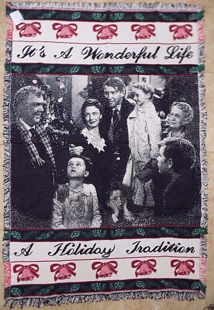 Its A Wonderful Life Blanket Throw Christmas Tradition Tapestry Frank Capra Usa Manualwoodworkersandweavers
