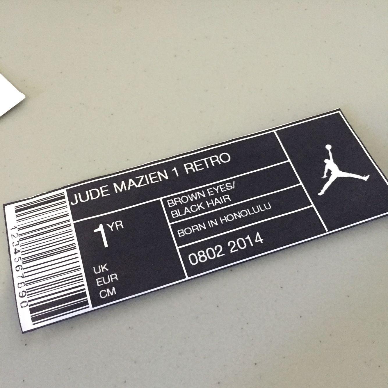free nike shoe box label template
