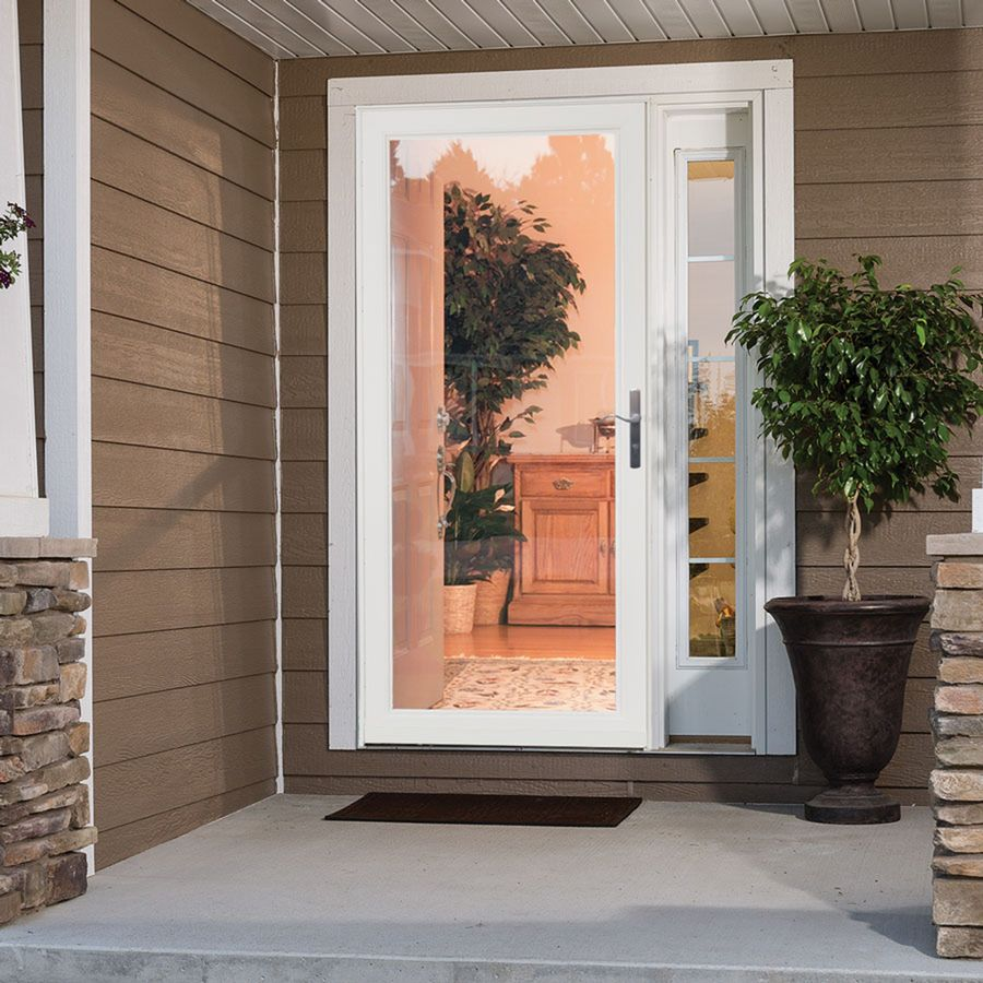 Shop Larson Secure Elegance White Full View Laminated Glass Security