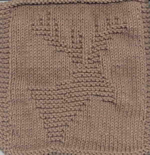 Free Knitting Pattern Dishcloths Washcloths Knitted Moose