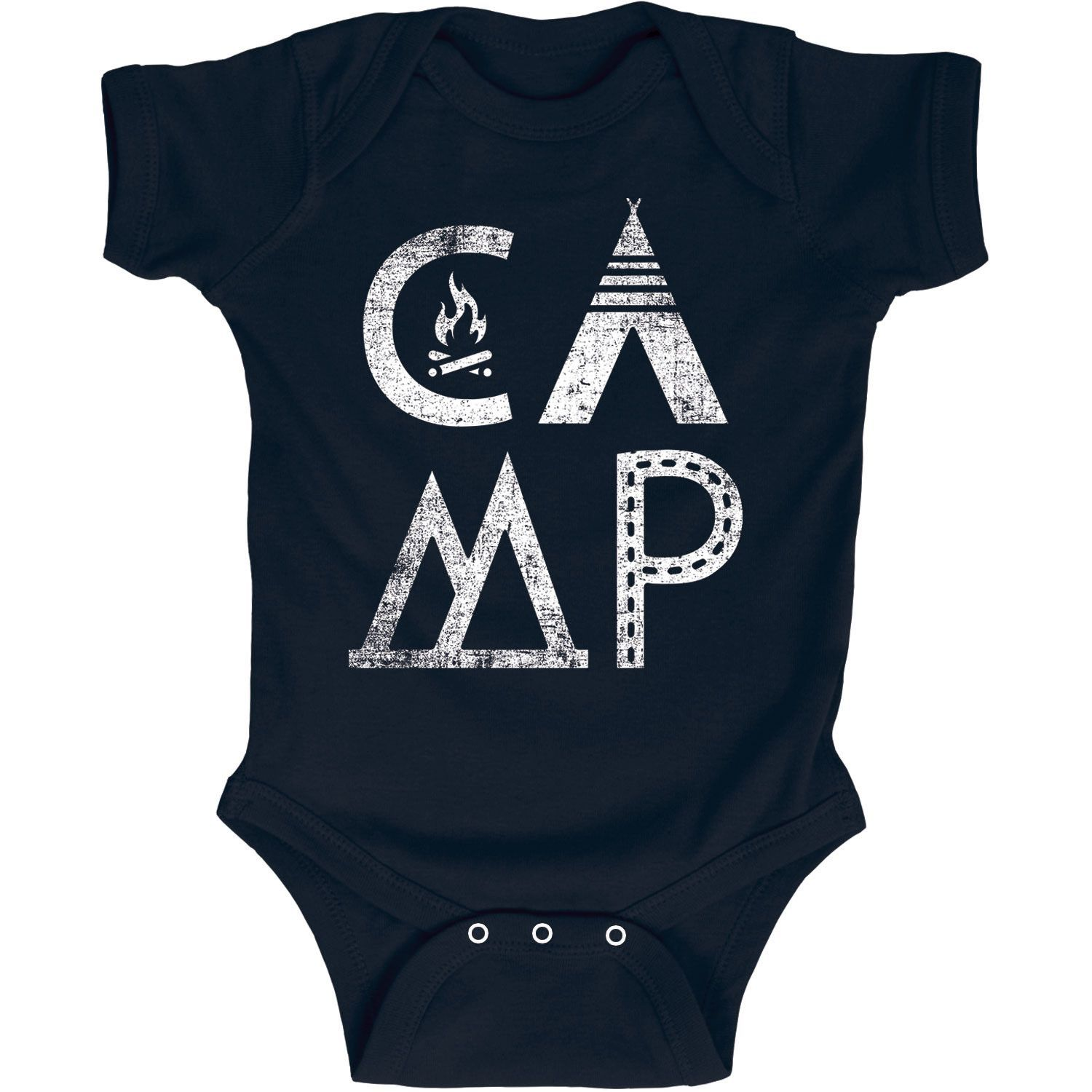 ab4a0a8ce Here's a cool camping idea. Camping shirts for the kids on your next trip! CAMP  Camping Logo Infant One Piece Baby Onesie. #camping #campingshirts