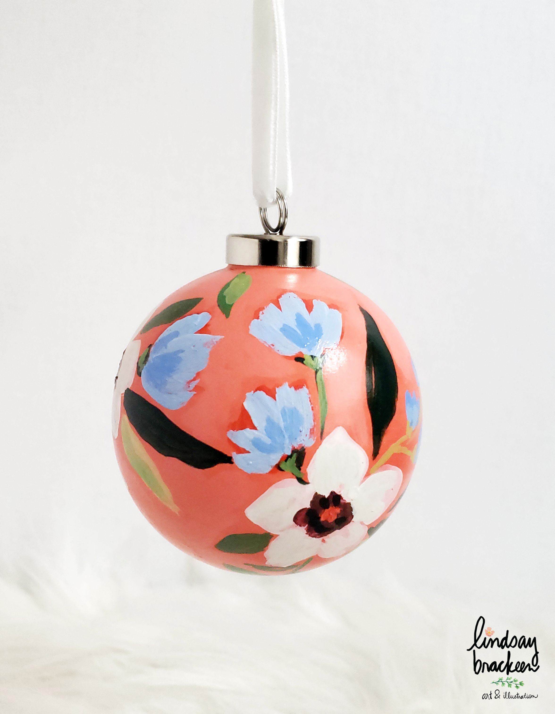 Hand Painted Ceramic Ornaments By Lindsay Brackeen Paper Christmas Decorations Christmas Ornament Crafts Holiday Decor Christmas